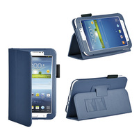Blue Stand Smart Leather Case Cover For Samsung Galaxy Tab 3 7.0 P3200 Tablet