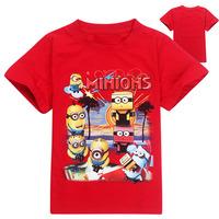 New 2014 Summer Hot Sale Despicable Me 2 Kids Boys Clothing 100%Cotton Short Sleeve Cartoon children T shirt Despicable Me