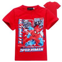 Cartoon Fashion 2014 Summer kids T-shirts boys and girls Spiderman t-shirts children short sleeve  t-shirts sport t shirt