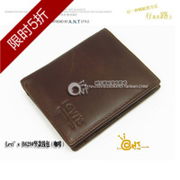 Vertical genuine leather male wallet coffee a629 fashionable casual