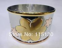 Vintage Gold Stainless Steel Bracelets For Women Heart Flower Big Silver Bangles & Bracelets Stainless Steel Rose Gold Jewelry
