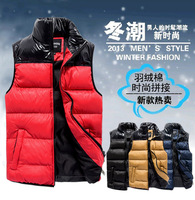 2013 Men's Winter clothes,Man casual down cotton sleeveless vest, Men's Fashion Vest,winter outwear large size.M-5XL W1131