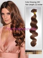 Free Shipping 5A Brazilian Virgin Hair Body Wave 12-28inch Fashion #30 medium auburn 3pcs/lot Human Hair Weaves Extension