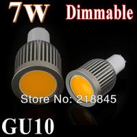10pcs/lot High Bright 5w/7w/9w LED COB SpotLight Bulb gu10 Cool White/Warm White dimmable AC85-265V lamp Lighting Epistar