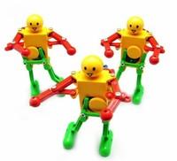 Novelty Individual Plastic Clockwork Dancing Robots Toys For Children's Gift 3Pcs/lotFree Shipping