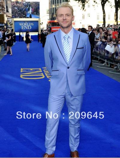 Mens Suit Jacket Blue Powder Men Sky Blue Suit