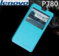 Free shipping Leather Case Cover For Lenovo P780 Flip Stand Cover 5 Colors Mobile Phone Leather Case