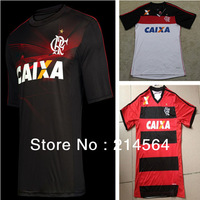 Thai quality Flamengo 13/14 season home and away jerseys, Third Jersey, flamenco red white black three color football jersey