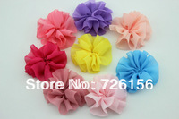 Free Shipping (240pcs/lot)DIY Mini Chiffon Flowers Solid Ballerina Flowers Flat Back