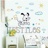 Free shipping!!10pc/lot Hot sale cartoon dog wall sticker weather wall sticker kids room wall decal