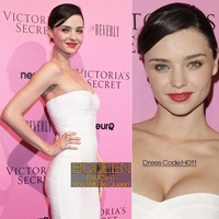 Hot!Miranda Kerr Star Evening Dress in H011 White Strapless Dress Free Shipping