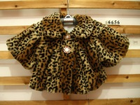 Free Shipping New Korean Spring Autumn Clothes 3 pcs/lot Baby Girls Fashion Leopard Cardigan Cape Coat, Wholesale
