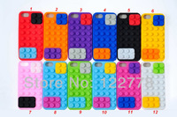Colorful Building Block Silicone Soft Case for iPhone 5 5S