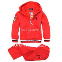 Autumn Fashion Kids suits Sport suit Casual clothes Children clothing Tracksuit 2pcs set coat+pants Boys costume