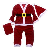Special clearance , ( velvet ) Children's Santa Claus suit, performances, stage clothes ( five pieces )