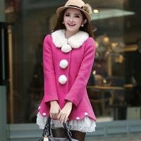 2013 autumn and winter cloak short design wool coat woolen overcoat wool coat woolen outerwear female