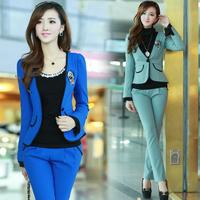 2013 casual autumn work wear women fashion work wear women's suit ol set formal