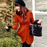2013 woolen outerwear female autumn and winter overcoat new arrival top slim woolen outerwear thick