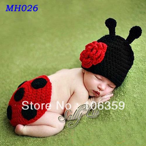 Newborn Ladybug Photo Prop Crochet Pattern