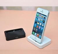 2014 new rushed charging dock stand docking station station+charger cable for apple iphone 5/ 5s /ipone 5c black/white 2pcs/lots