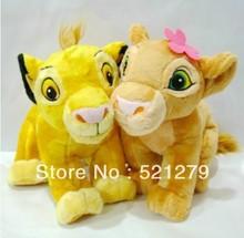 Free shipping 1pair 35cm13.7inch The Lion King plush soft toys,simba and nala plush toys(China (Mainland))