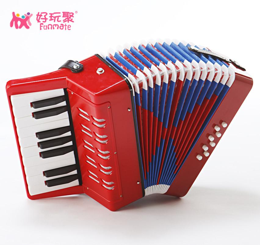 Child birthday gift tibesti 8 17 key child accordion child musical instrument toy piano paint(China (Mainland))