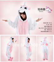 free shipping S-XL pink unicorn onesie coral fleece Animal Kigurumi Unisex Onesies Pyjamas cosplay costume S-XL