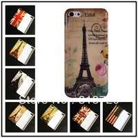 For iphone 5C New cartoon flag tower hard back cover case skin house Free Shipping! BH0134-2