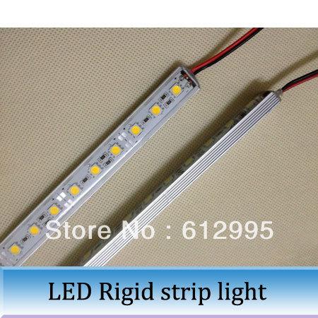 5pcs 50CM Waterproof LED Rigid strip Bar light 5050SMD 36 LED Aluminum Showcase Light(China (Mainland))
