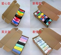 new 2013 free shipping Socks gift socks colorful candy color strawberry love socks multicolour