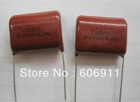100pcs / lot Capacitor CBB 630V 225 225J 2.2uF 2200nF 5% 225j   Pin pitch 25MM