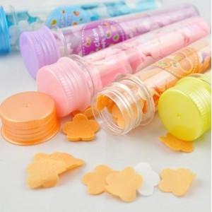 (Min order is $10) 2083 test tube soap flower long design portable soap paper rose paper soap bath tablets(China (Mainland))