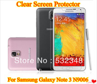 Newest Clear Transparent LCD Screen Protector Film For Samsung Galaxy Note 3 III N9006 With Retail Package