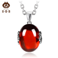 Free shipping Silver jewelry 925  red zircon  pure silver handmade exquisite  11  pendants