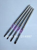 Free Shipping -Wholesale Detachable #2 Pure Kolinsky Sable Professional Nail Art Acrylic Gel Brush 10pcs/lot