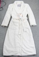 Free shipping layer thickening coral fleece robe winter women bathrobe lounge