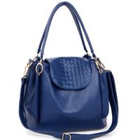 Blue women's handbag 2013 bucket bag shoulder bag messenger bag small fashion handbag dual-use  bolsas femininas