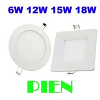 Dimmable LED Panel lights 18W 15W 12W 9W 6W 4W 2835smd Ultra thin ceiling lamp Round Square home Kitchen 120V 220V by DHL 10pcs