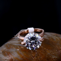 3pics/RN089/Wholesale Newest Brand Sparkling Engagement Cubic Crystal Charm 18k Rose Gold Jewelry Ring For Women,FREE SHIPPING!
