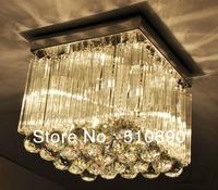Chandelier/4 LIGHTS/K9 CRYSTAL+Glass/THICK BASE/Free shipping/110-24V/Square Design/LIGHT/LAMP/LIGHTING+High bright LED Bulb E14