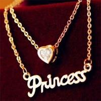 Fashion Small lipstick double pendant 14k rose gold titanium luxury channel bijou chain necklace women acesssories jewelry gifts