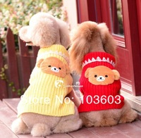 New Fashion Pet Cartoon Three-dimensional Bear Sweater Pet Dog Warm Autumn Winter Casual Clothes Apparel, XXS/XS/S/M/L