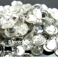 Crystal Clear color Non Hotfix Rhinestones crystal flatback Nail Art Rhinestones.SS4 SS5 SS6 SS8 SS10 SS12 SS16 SS18 SS20 SS30