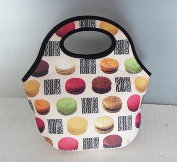 Женщины's Модный lunch bag tote neoprene insulated cooler bag keep food/drink ...