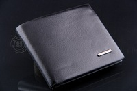 Promotion! Free shipping 2013 new fashion brand mens wallet, classic soild  pattern designer wallet leather purse A001-2