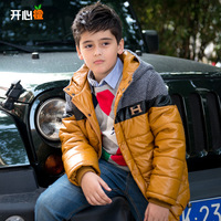 Children's clothing male child 2013 winter leather clothing child wadded jacket cotton-padded jacket thickening outerwear
