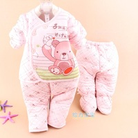 Cute bear printing 3 pcs of winter clothing  sets for toddler girl clothing and infantil by Out Clothing gift cheap wholesale