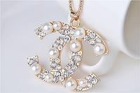 Female fashion necklace, pearl sweater chain competitors
