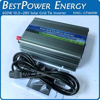 Free Shipping, Grid Tie Inverter 600W DC10.5~28V to AC110V/230V Micro Solar Grid Inverter with MPPT Function
