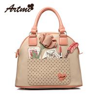 Artmi women's bags 2013 handbag messenger bag PU shell bag women's handbag